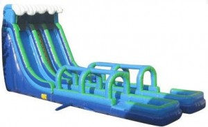 24 foot double lane wet dry slide