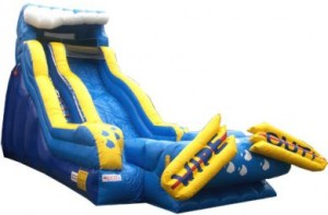 "19 foot waterslide ""wipe-out"""